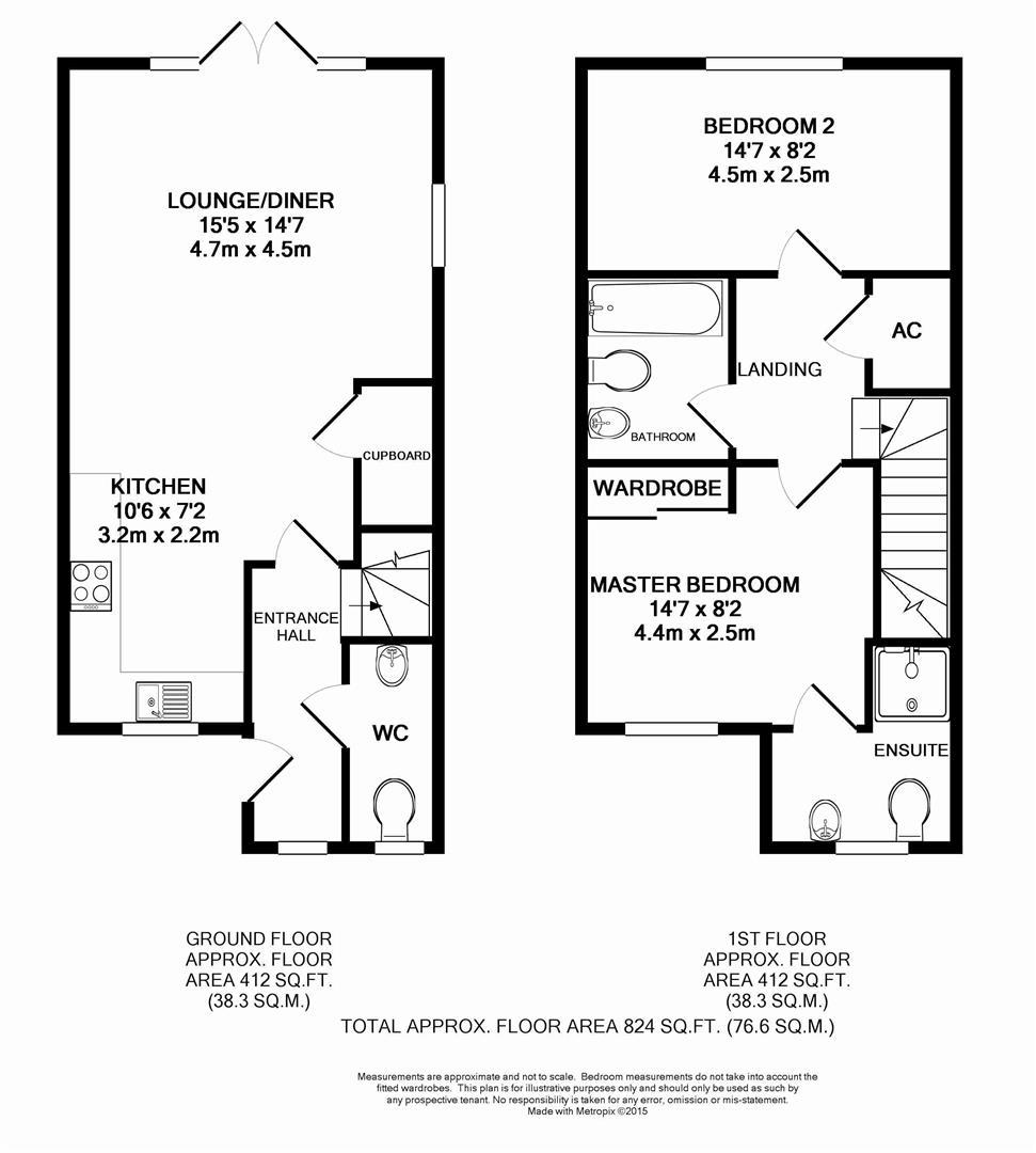 Floorplan for Beeches Way, Horsham